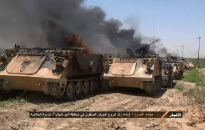 IS Destroy Iraqi Army Convoy