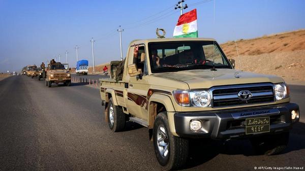 Kurdish Peshmerga Weapons Convoy from Iraq on its Way to Kobane in Syria