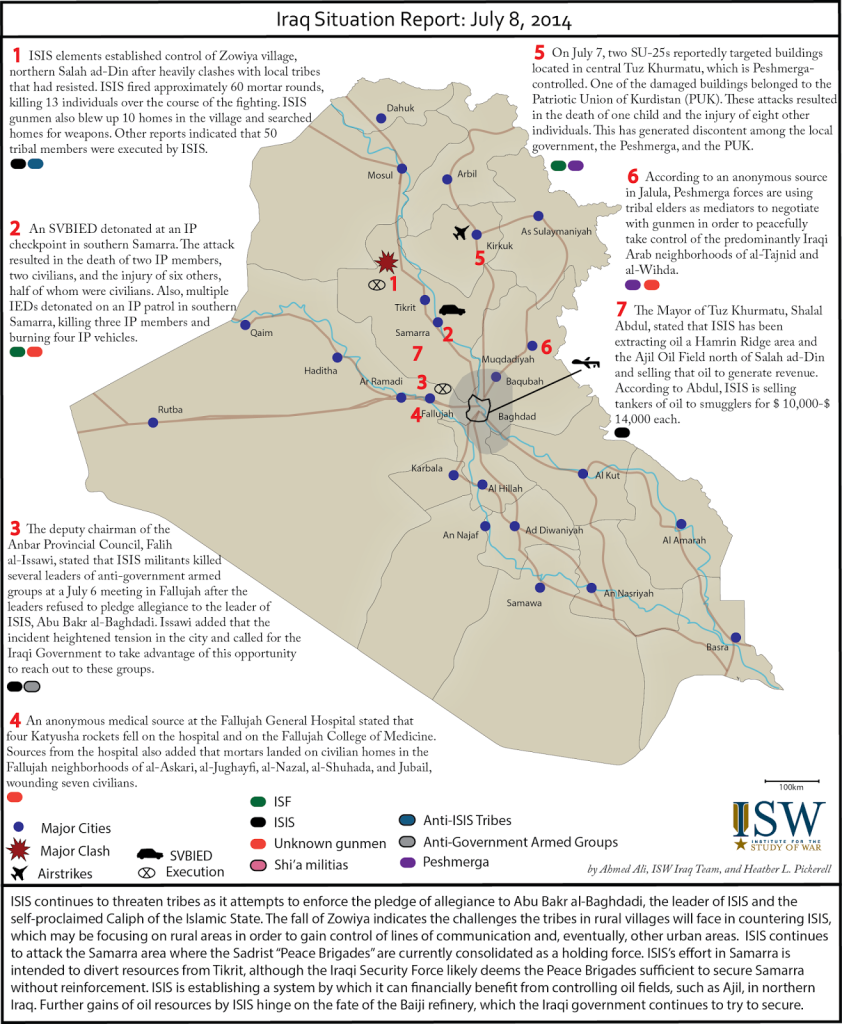 Iraq Situation Report July 8th 2014