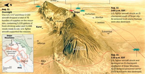 Situation at Mount Sinjar 11.08.14
