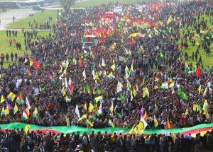 20,000 Kurds Demonstrate in Dusseldorf, Germany