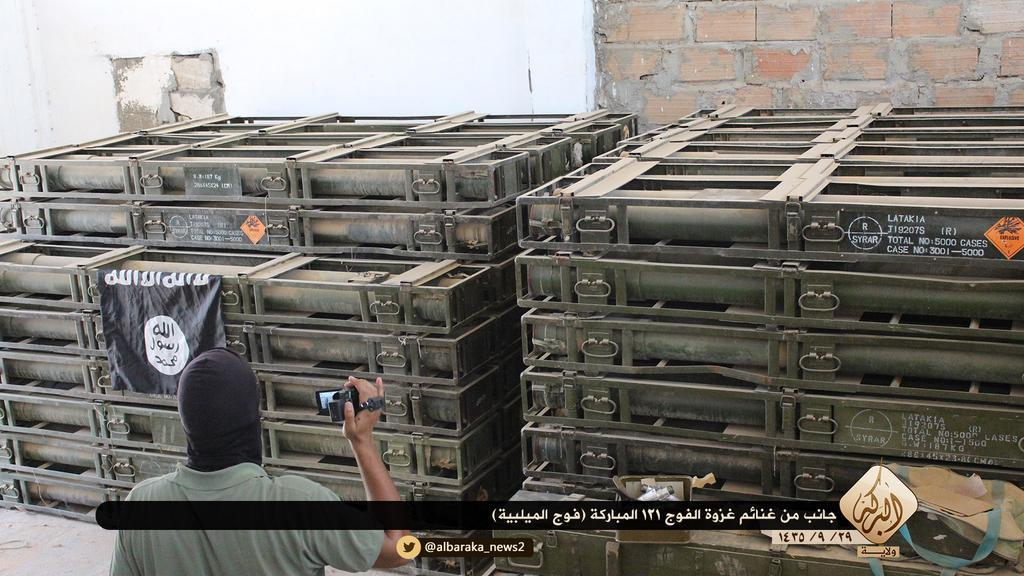 Ammunition Seized by IS at Brigade 121, Hasakah