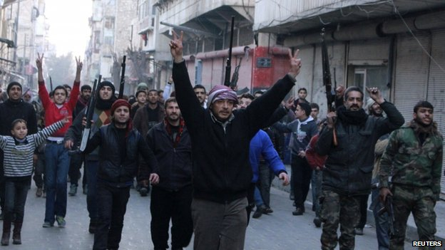 Syria FSA Protest Against ISIS in Aleppo