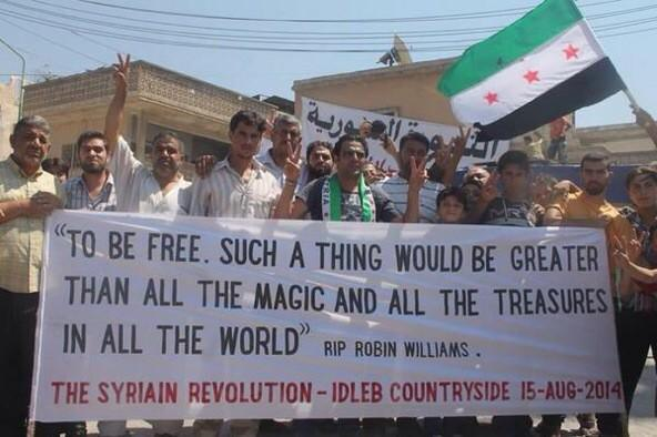 Kafranbel's Tribute to Freedom and Robin Williams
