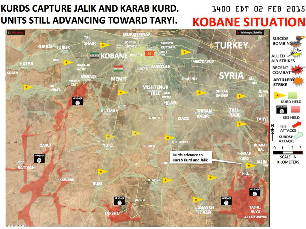Kobane Situation Map 02.02.15