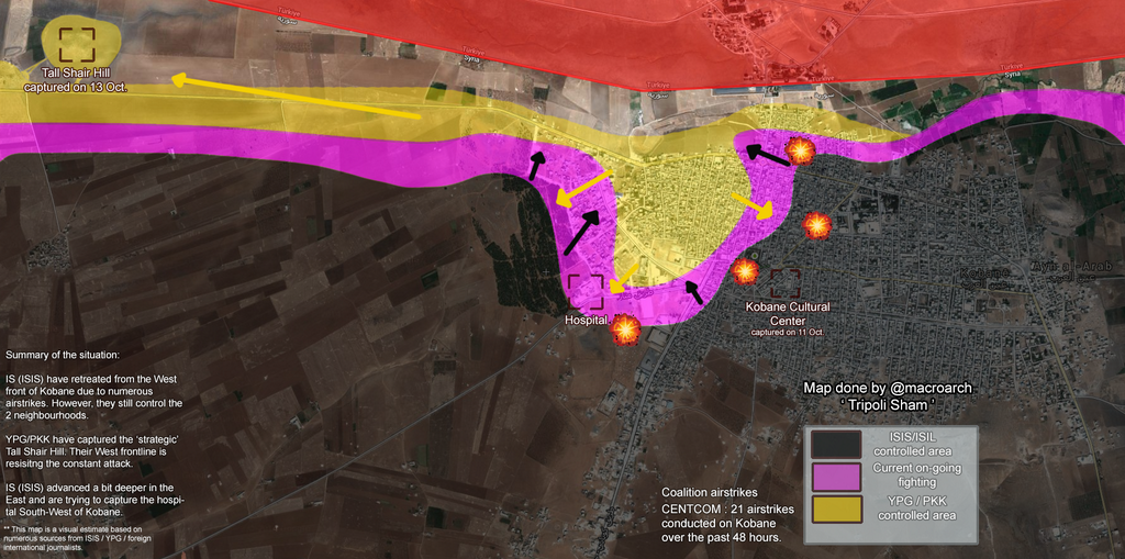 KOBANE UPDATE 5 INTENSE COALITION BOMBING RAID ON ISLAMIC STATE