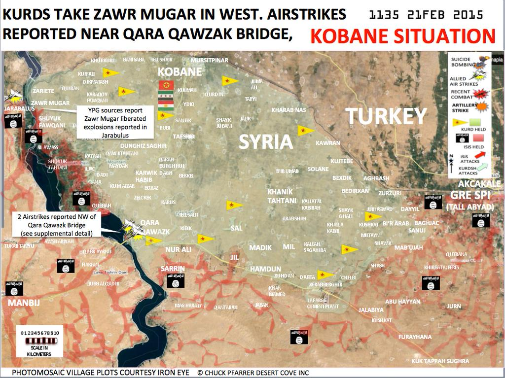 KOBANE UPDATE 56 KURDS PUSH ON TO TAKE 19 VILLAGES FROM ISLAMIC