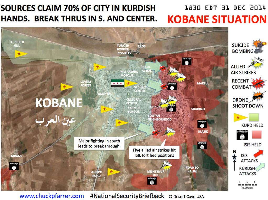 KOBANE UPDATE 35 KURDS SEE IN NEW YEAR WITH SIGNIFICANT EASTWARD