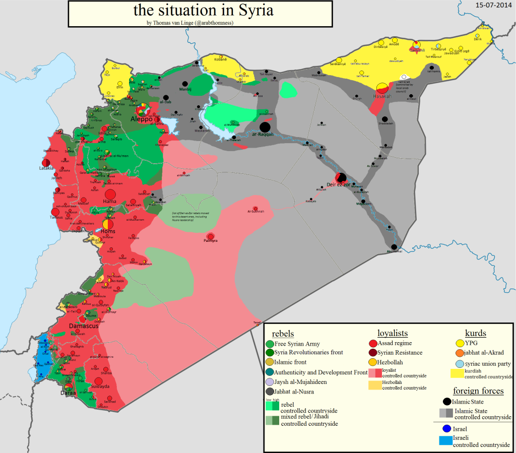 Syria Situation Map 15.07.14