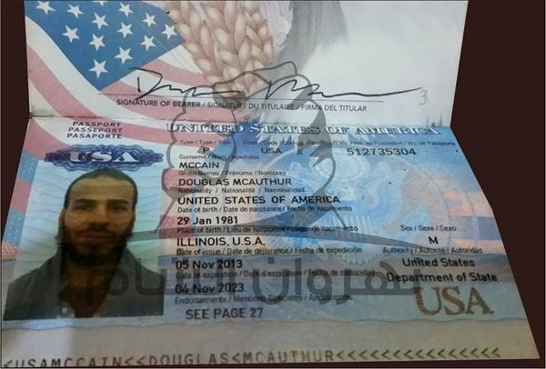 Passport of American Killed Fighting for Islamic State