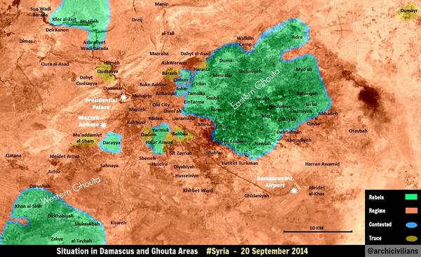 Situation Map for the Area Around Damascus