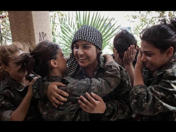 Wonderful YPJ Cry With Joy at Kobane Victory